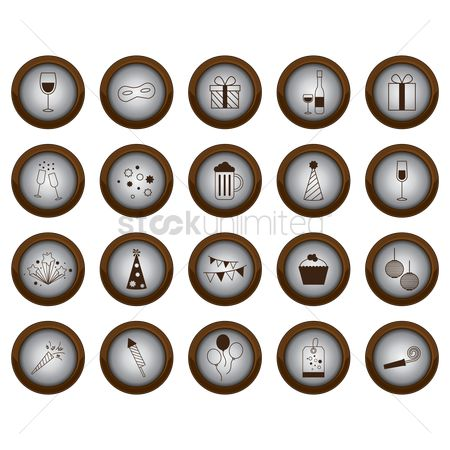 Champagnes : Collection of decoration button