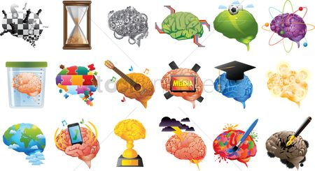 Jigsaw : Collection of different brain themes