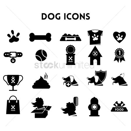Bones : Collection of dog icons
