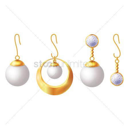 Jewelleries : Collection of earrings