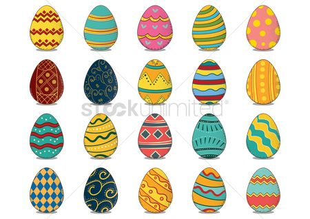 Traditions : Collection of easter eggs