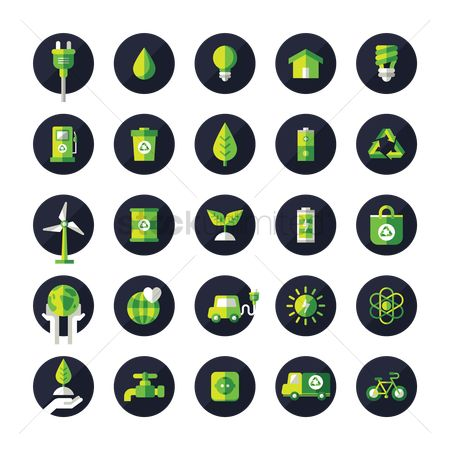 Truck : Collection of eco icons
