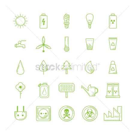 Nuclear : Collection of eco icons