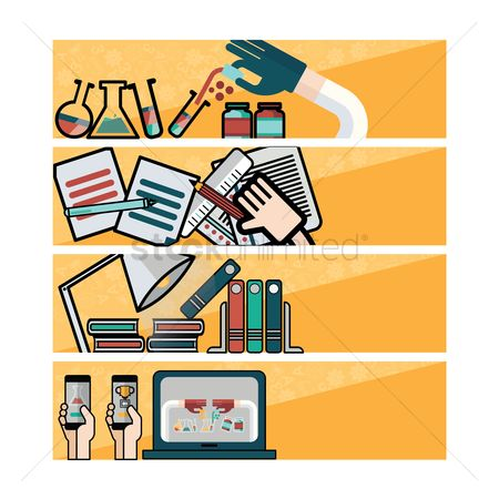 Laboratory : Collection of education banner