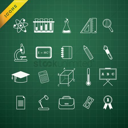 Learn : Collection of education icons
