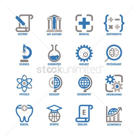 Learn : Collection of educational subject icons