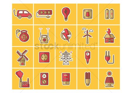 Electric cars : Collection of electrical equipments