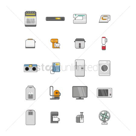 Appliances : Collection of electrical home appliances
