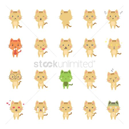 Annoy : Collection of expressive cat