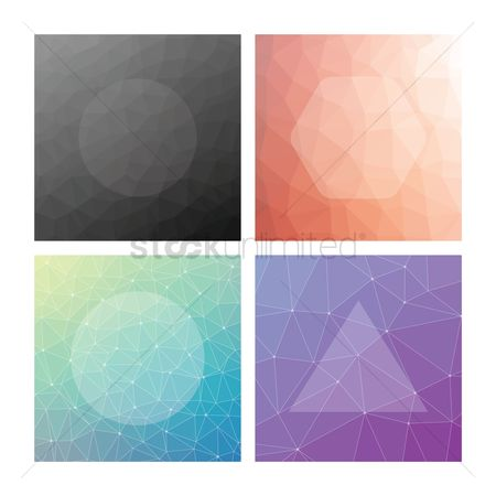 Gradients : Collection of faceted backgrounds