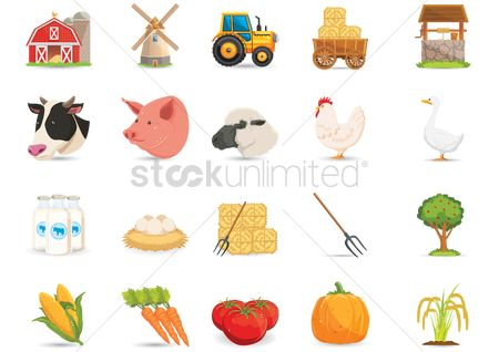 Agriculture : Collection of farm items