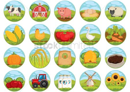 Agriculture : Collection of farm related icons