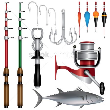 Recreation : Collection of fishing items