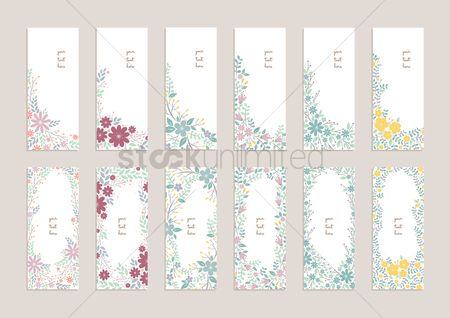 Sets : Collection of floral banners