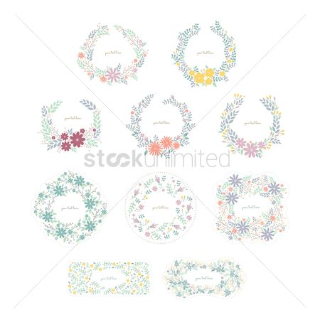 Greetings : Collection of floral designs