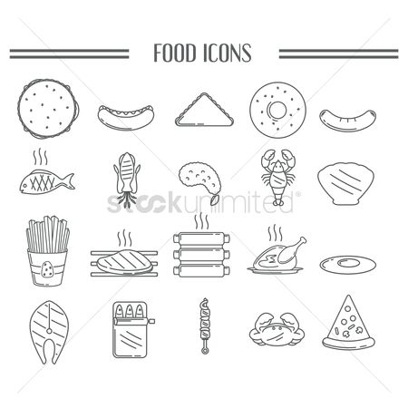 French fries : Collection of food icons