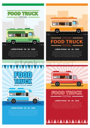 Awning : Collection of food truck festival posters