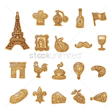 Croissant : Collection of french icons