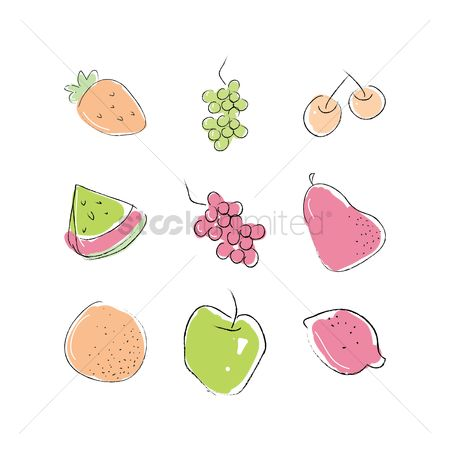 Watermelon slice : Collection of fruits
