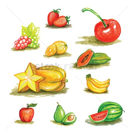 Watermelon : Collection of fruits