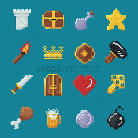 Silver : Collection of gaming icons