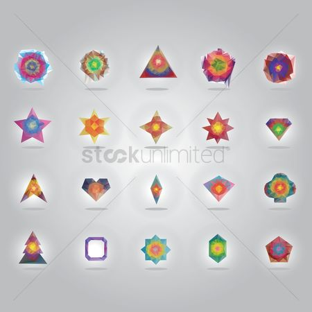 Pentagons : Collection of geometric designs