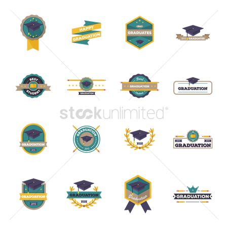 Achievement : Collection of graduation labels