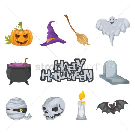Head : Collection of halloween items