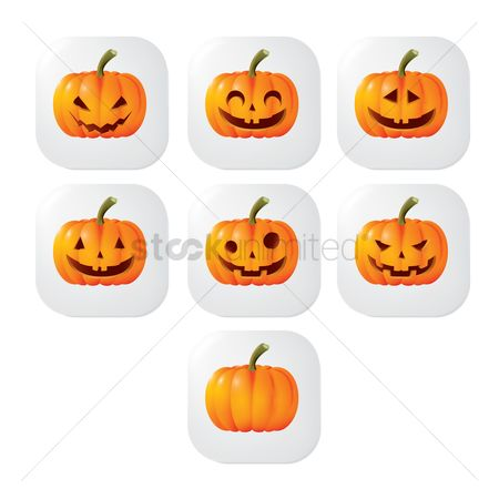 Jack o lantern : Collection of halloween pumpkins