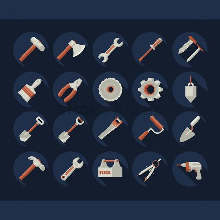 Roller brush : Collection of hardware tool