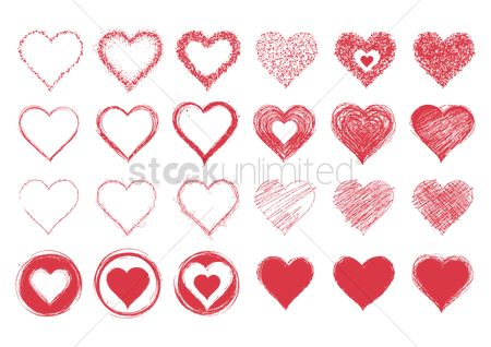 Romance : Collection of heart designs