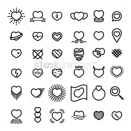 Bandages : Collection of heart icons