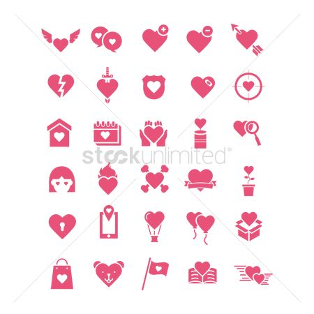 Minus : Collection of heart icons