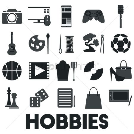 Photography : Collection of hobby icons