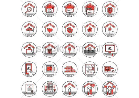 Magnifying : Collection of house icons