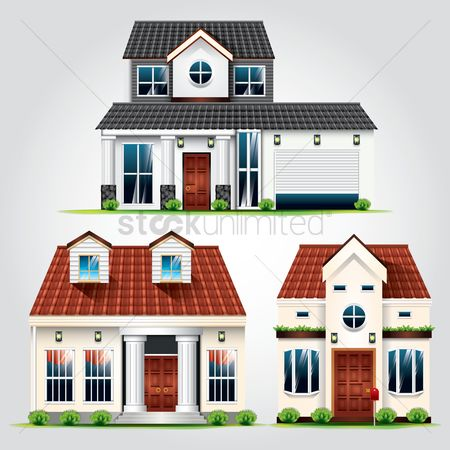 Real estate : Collection of houses