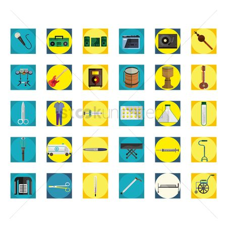 Drums : Collection of icons