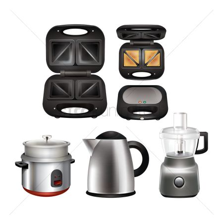 Appliances : Collection of kitchen appliances
