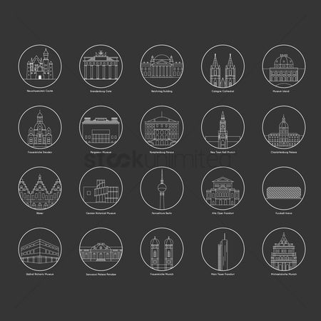 Main : Collection of landmarks in germany