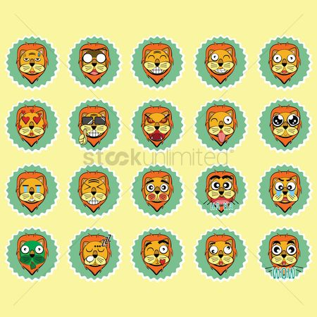 Wow : Collection of lion expressions