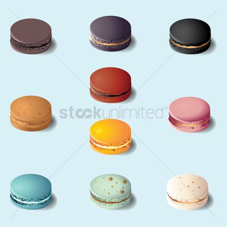 French : Collection of macarons