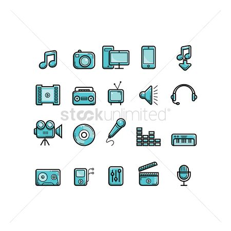 Microphones : Collection of media icons