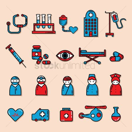 Surgeon : Collection of medical equipments