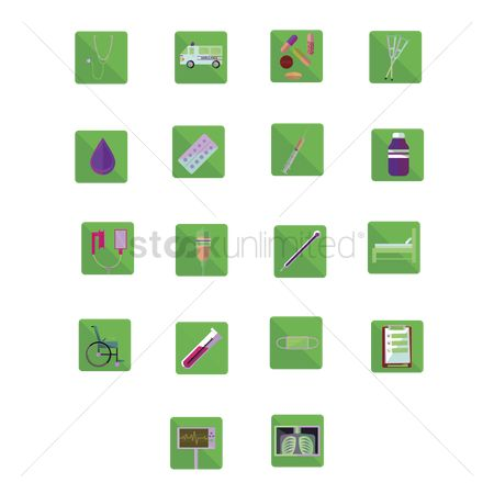 Wheelchair : Collection of medical related icons
