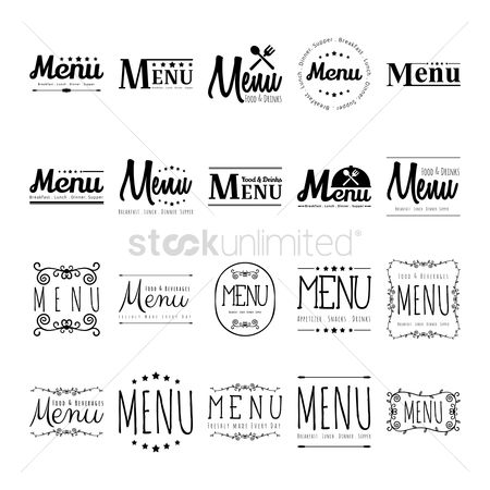 Dinner : Collection of menu designs