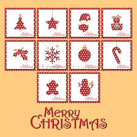 Santa : Collection of merry christmas card design