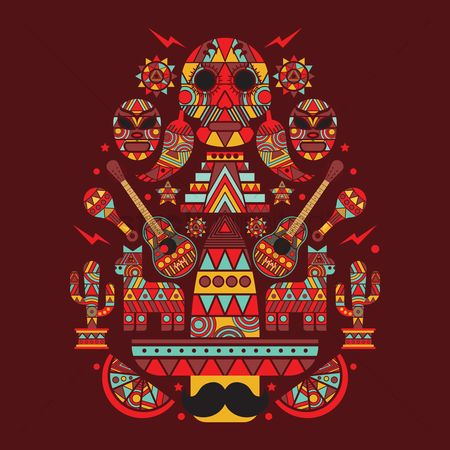 Mexicans : Collection of mexican icons concept design
