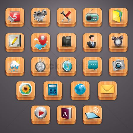 Address : Collection of mobile application icons