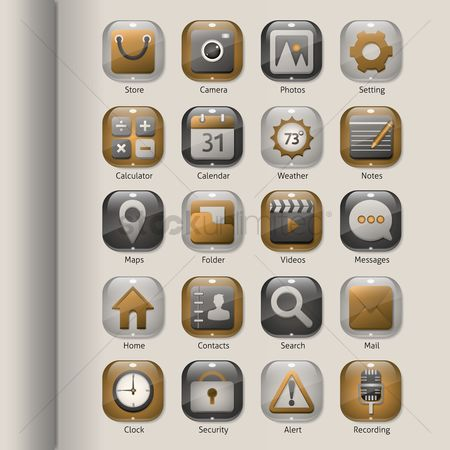 Mobiles : Collection of mobile icons