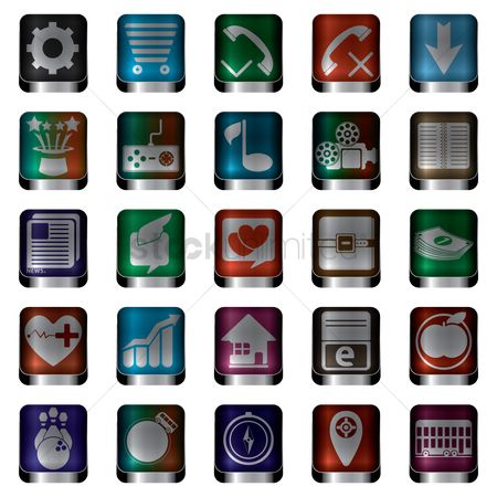 Icons news : Collection of mobile icons